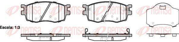 D11568266 REMSA Vorderachse, inkl. Verschleißwarnkontakt, mit Klebefolie, mit Zubehör Höhe: 56mm, Dicke/Stärke: 17,7mm Bremsbelagsatz, Scheibenbremse 1208.02 günstig kaufen