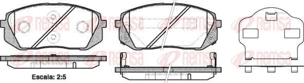 D12958412 REMSA Vorderachse, mit akustischer Verschleißwarnung, mit Klebefolie, mit Zubehör Höhe: 61mm, Dicke/Stärke: 16,6mm Bremsbelagsatz, Scheibenbremse 1302.02 günstig kaufen