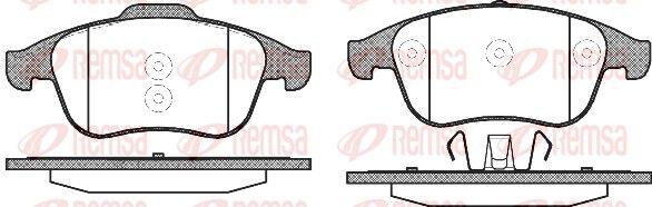REMSA Bremsbelagsatz, Scheibenbremse 1350.10