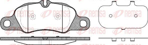 REMSA Bremsbelagsatz Scheibenbremse 1366.00 für PORSCHE