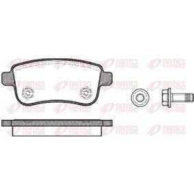 BPM138700 REMSA Hinterachse, mit Klebefolie, mit Schrauben, mit Zubehör Höhe: 45,8mm, Dicke/Stärke: 16mm Bremsbelagsatz, Scheibenbremse 1387.00 günstig kaufen
