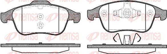 BPM138900 REMSA Vorderachse, mit Klebefolie, mit Feder, mit Zubehör Höhe: 68,2mm, Dicke/Stärke: 18mm Bremsbelagsatz, Scheibenbremse 1389.00 günstig kaufen