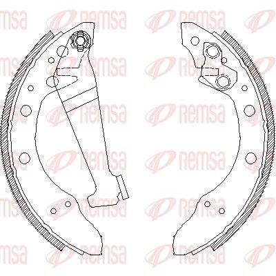 REMSA: Original Bremsbackensatz für Trommelbremse 4046.00 (Breite: 40mm)