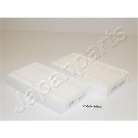 FAA-H02 JAPANPARTS Breite: 94,5mm, Höhe: 29,5mm, Länge: 180mm Filter, Innenraumluft FAA-H02 günstig kaufen