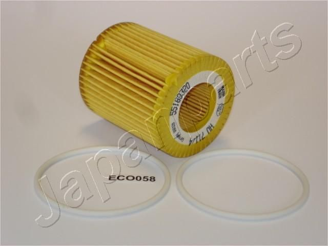 Pirkti FO-ECO058 JAPANPARTS filtro įdėklas vidinis skersmuo: 31mm, Ø: 64mm, ilgis: 73,5mm, ilgis: 73,5mm Alyvos filtras FO-ECO058 nebrangu