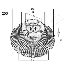 radiator fan Herth+Buss Jakoparts J1522002 Clutch