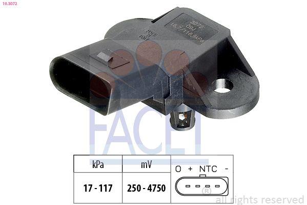 KW493072 FACET Made in Italy - OE Equivalent Sensor, Saugrohrdruck 10.3072 günstig kaufen