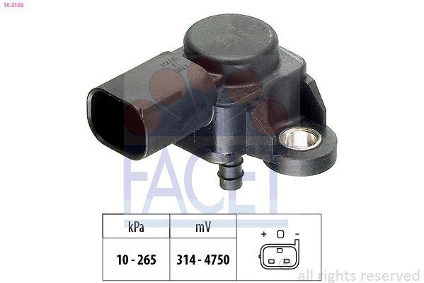 KW493102 FACET Made in Italy - OE Equivalent Luftdrucksensor, Höhenanpassung 10.3102 günstig kaufen