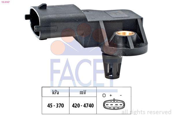 Achat de KW493167 FACET Made in Italy - OE Equivalent Capteur de pression barométrique, adaptation à l'altitude 10.3167 pas chères