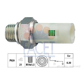 Senzor presiune ulei FACET 7.0076 cumpărați și înlocuiți