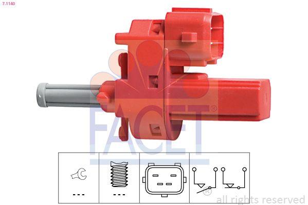 KW510140 FACET Made in Italy - OE Equivalent Schalter, Kupplungsbetätigung (GRA) 7.1140 günstig kaufen