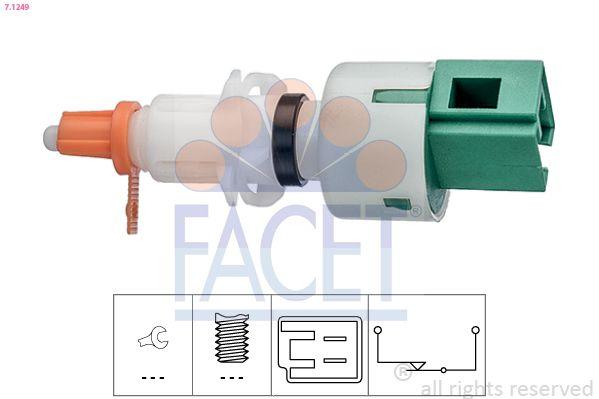 KW510249 FACET Made in Italy - OE Equivalent Schalter, Kupplungsbetätigung (GRA) 7.1249 günstig kaufen