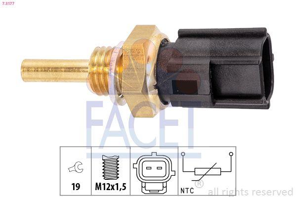 FACET: Original Kühlmitteltemperatursensor 7.3177 (SW: 19)
