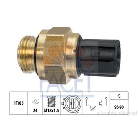 Compre e substitua Interruptor de temperatura, ventilador do radiador FACET 7.5196