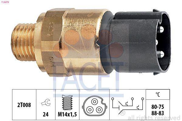 Original Thermoschakelaar radiateurventilator 7.5679 BMW