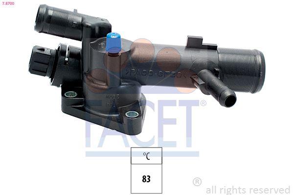 KW580700 FACET Öffnungstemperatur: 83°C, integriertes Gehäuse, Made in Italy - OE Equivalent Thermostat, Kühlmittel 7.8700 günstig kaufen
