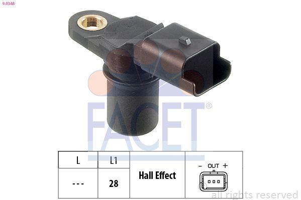 FACET Sensor, Nockenwellenposition für RENAULT TRUCKS - Artikelnummer: 9.0348