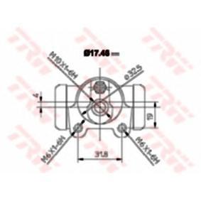BWA129 Radbremszylinder TRW BWA129 - Große Auswahl - stark reduziert