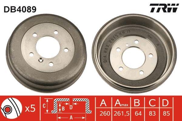 Tambour de frein TRW pour VOLVO, n° d'article DB4089