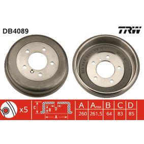 DB4089 TRW 280mm Trum-Ø: 260,0 Bromstrumma DB4089 köp lågt pris