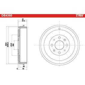 TRW AUTOMOTIVE DB4360 Tamburi Freno