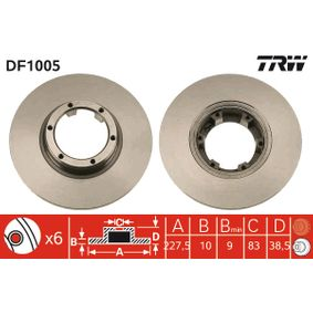 Disque de frein DF1005 RENAULT 8 à prix réduit — achetez maintenant!