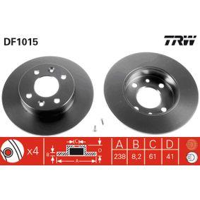 Disco de freno TRW con tornillos, barnizado, Macizo