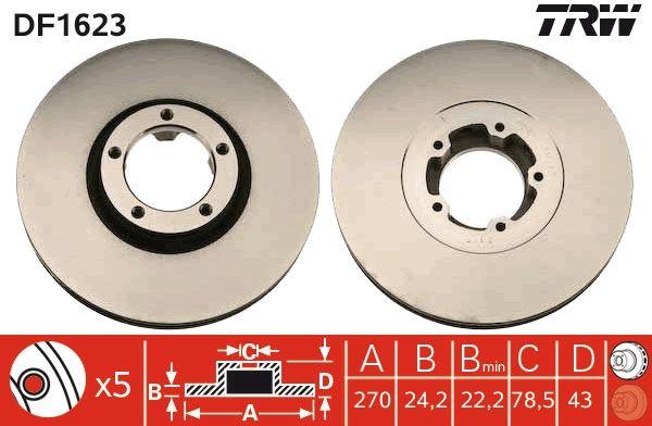 TRW Спирачен диск DF1623