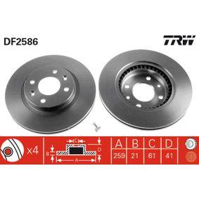 DF2586 Brzdový kotúč TRW - Zažite tie zľavy