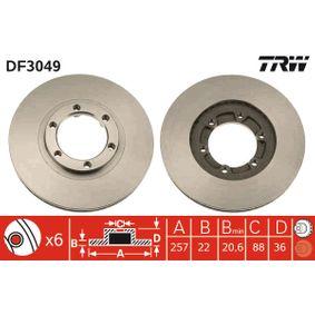 Disc frana DF3049 pentru OPEL CAMPO la preț mic — cumpărați acum!