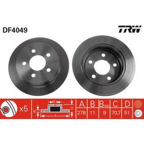 Günstige Bremsscheibe mit Artikelnummer: DF4049 OPEL SINTRA jetzt bestellen