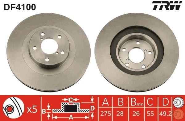 Bremsscheiben TRW DF4100