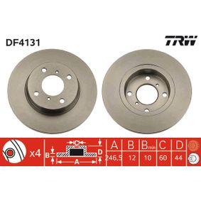 DF4131 TRW Voll, lackiert Ø: 246,5mm, Lochanzahl: 4, Bremsscheibendicke: 12mm Bremsscheibe DF4131 günstig kaufen