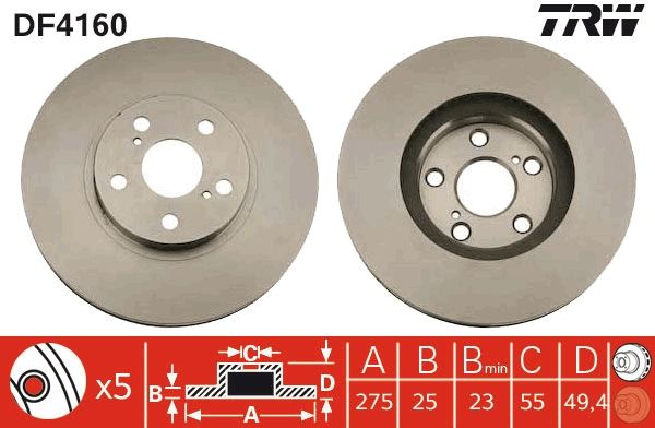 Scheibenbremsen TRW DF4160