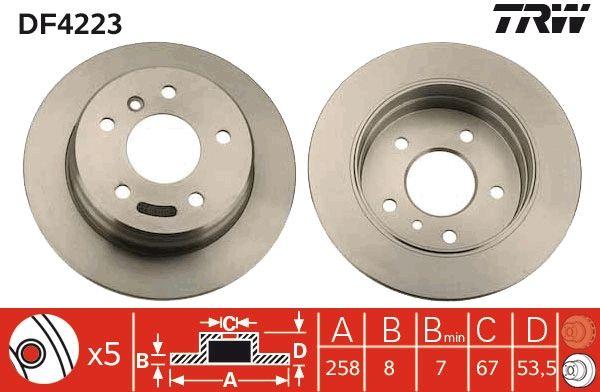 TRW Stabdžių diskas DF4223