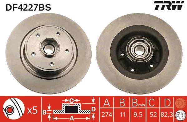 Stabdžių sistema DF4227BS su puikiu TRW kainos/kokybės santykiu