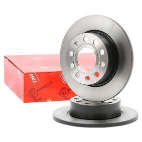 DF4276 TRW plný, lakováno R: 253mm, Počet děr: 9, Zesílený brzdový kotouč: 10mm Brzdový kotouč DF4276 kupte si levně