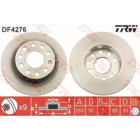 DF4276 Brzdový kotouč TRW DF4276 - Obrovský výběr — ještě větší slevy