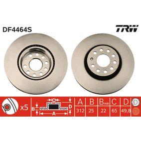 DF4464S Disco de freno TRW - Productos de marca económicos