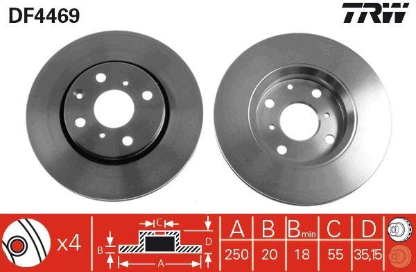 DF4469 Scheibenbremsen TRW - Markenprodukte billig