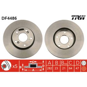 DF4486 Brake Disc TRW - Experience and discount prices