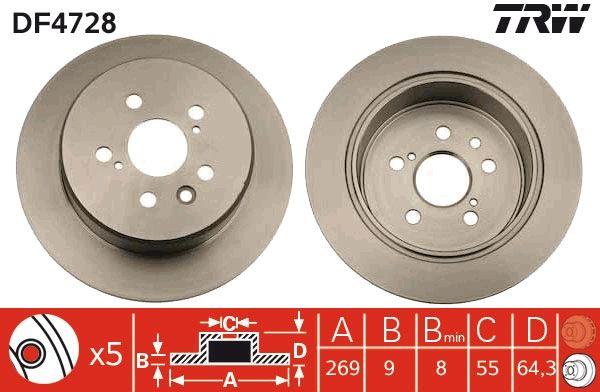 Bremsscheibe TRW DF4728