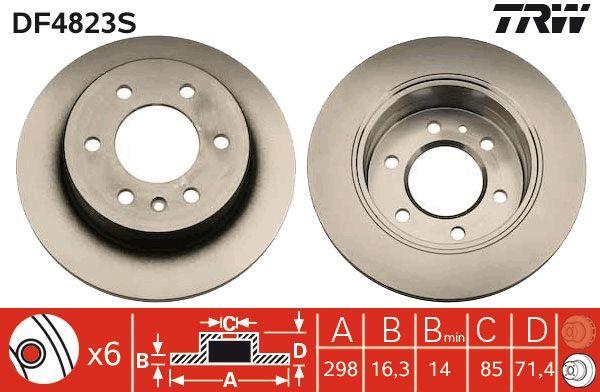DF4823S Disques de frein TRW originales de qualité