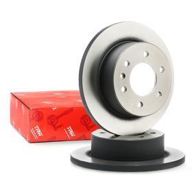 Køb DF4823S TRW fuld, lakeret Ø: 298mm, Lochanzahl: 6, Bremsscheibendicke: 16,3mm Bremseskive DF4823S billige