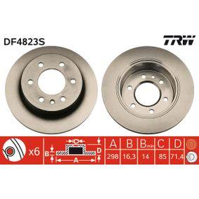 DF4823S Stabdžių diskas TRW - Sumažintų kainų patirtis