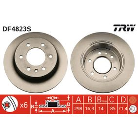 DF4823S Tarcza hamulcowa TRW - Doświadczenie w niskich cenach