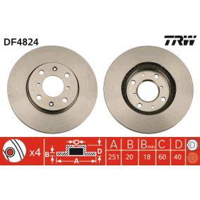 DF4824 Scheibenbremsen TRW - Markenprodukte billig