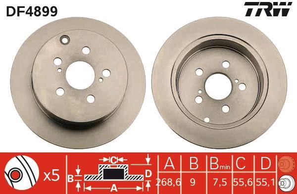 Bremsscheiben TRW DF4899