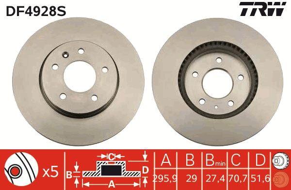 Original CHEVROLET Bremsscheiben DF4928S
