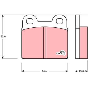 Piduriklotsi komplekt, ketaspidur GDB102 eest SAAB 9000 soodustusega - oske nüüd!